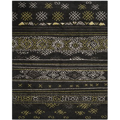 Tibetan Black/Green Rug Rug Size: Rectangle 8 x 10
