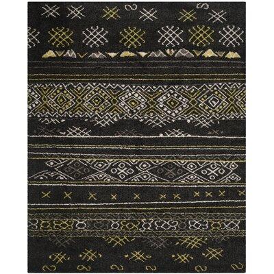 Tibetan Black/Green Rug Rug Size: 8 x 10