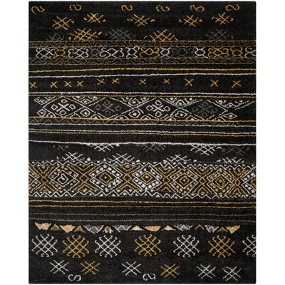 Tibetan Black/Gold Rug Rug Size: Rectangle 8 x 10