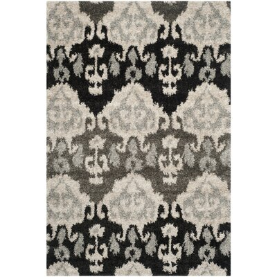 Tibetan Ivory/Grey Ikat Rug Rug Size: Rectangle 51 x 76