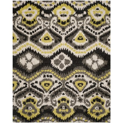 Tibetan Black/Green Ikat Rug Rug Size: Rectangle 8 x 10