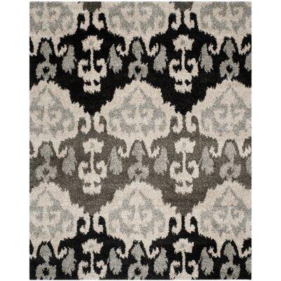 Tibetan Ivory/Grey Ikat Rug Rug Size: Rectangle 8 x 10