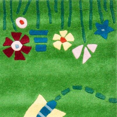 Claro Green / Multi Rug Size: Square 6