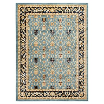 Austin Blue/Beige Area Rug Rug Size: Rectangle 8 x 11