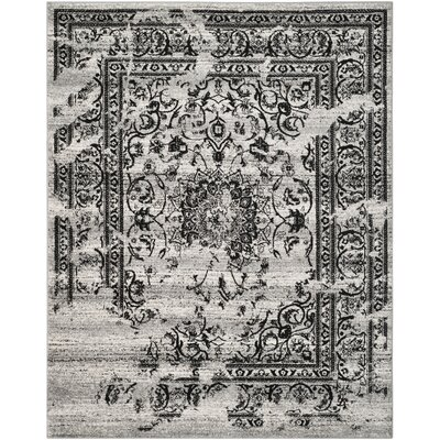 Costa Mesa Silver/Black Area Rug Rug Size: Rectangle 8 x 10