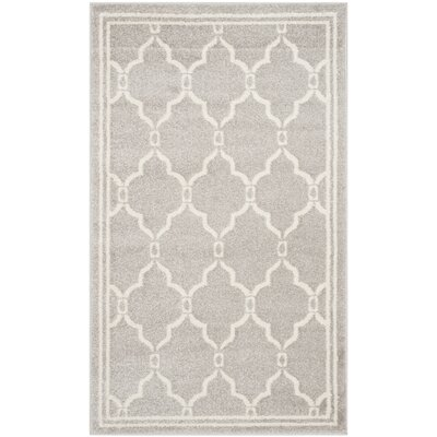 Maritza Light Gray/Ivory Indoor/Outdoor Area Rug Rug Size: Rectangle 3 x 5