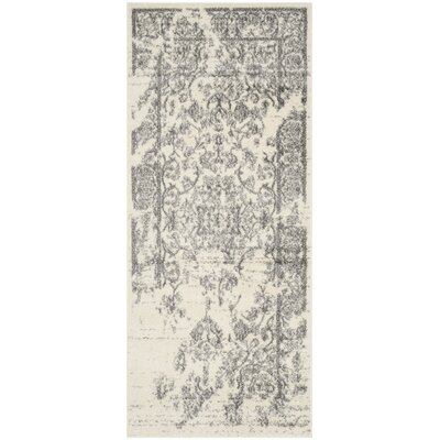 Glover Ivory/Silver Area Rug Rug Size: Runner 26 x 6