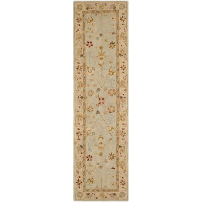 Anatolia Grey Blue/Ivory Indoor Area Rug Rug Size: Runner 23 x 8