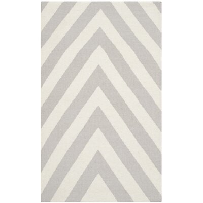 Dhurries Grey & Ivory Area Rug Rug Size: 3 x 5