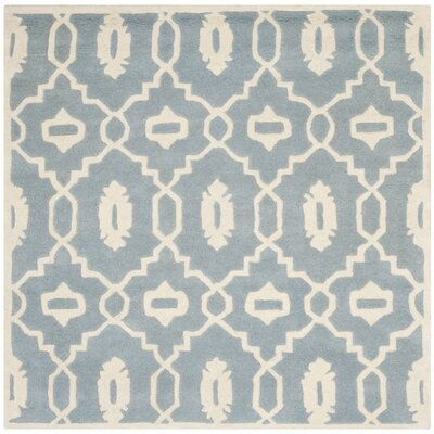 Chatham Blue / Ivory Moroccan Rug Rug Size: Square 5'