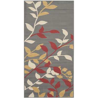 Hampton Dark Grey Outdoor Area Rug Rug Size: Rectangle 27 x 5