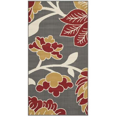 Hampton Dark Grey Area Rug Rug Size: Rectangle 27 x 5