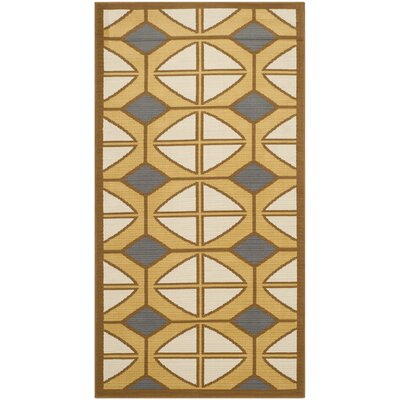 Hampton Ivory Geometric Outdoor Area Rug Rug Size: Runner 27 x 5