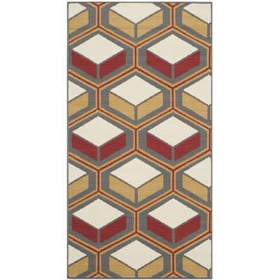 Hampton Geometric Outdoor Area Rug Rug Size: Rectangle 2'7
