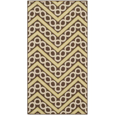 Hampton Chevron Outdoor Area Rug Rug Size: Rectangle 27 x 5