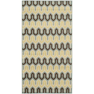Kelston Light Ivory Outdoor Area Rug Rug Size: Rectangle 27 x 5