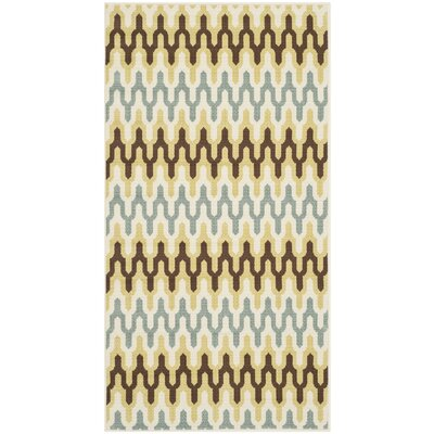 Kelston Ivory Outdoor Area Rug Rug Size: Rectangle 27 x 5