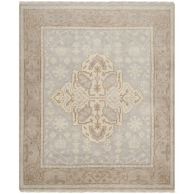Oushak Light Brown/Tan Area Rug Rug Size: 8 x 10