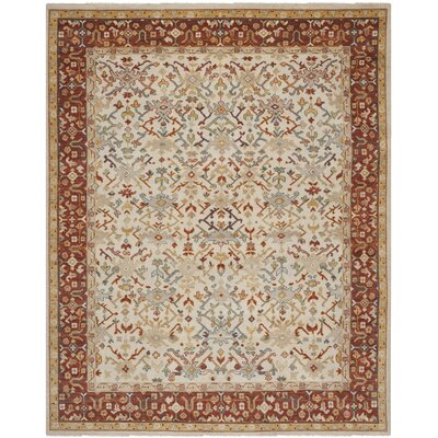 Sultanabad Ivory / Multi Colored Rug Rug Size: 9 x 12