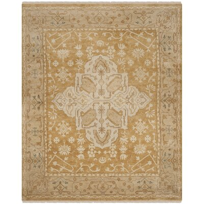 Oushak Gold/Brown Area Rug Rug Size: 8 x 10