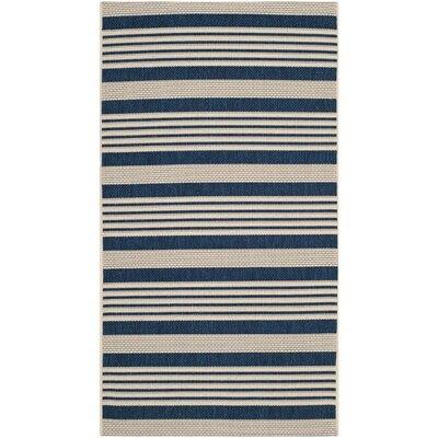 Sophina Navy/Beige Indoor/Outdoor Area Rug Rug Size: Rectangle 9 x 12