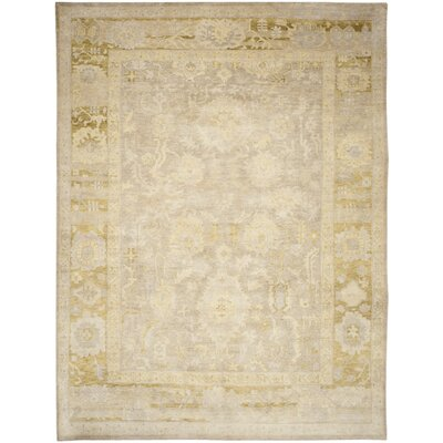 Sultanabad Beige / Green Rug Rug Size: 9 x 12