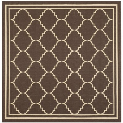 Courtyard Chocolate/Cream Indoor/Outdoor Rug Rug Size: Square 6'7