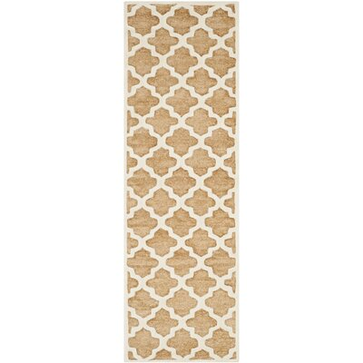 Precious Hand-Tufted Cotton Brown Area Rug Rug Size: Runner 26 x 8