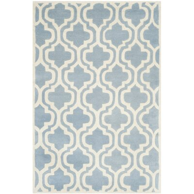 Chatham Blue / Ivory Moroccan Rug Rug Size: 4' x 6'