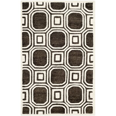 Precious Charcoal Rug Rug Size: 3 x 5