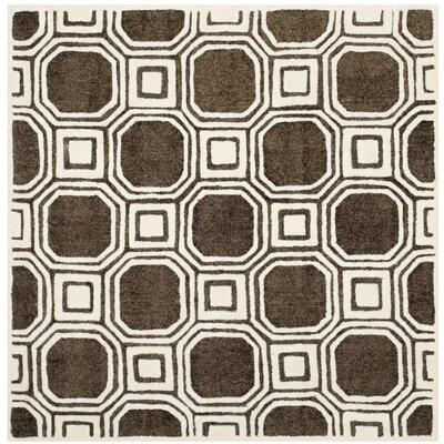 Precious Charcoal Rug Rug Size: Square 5