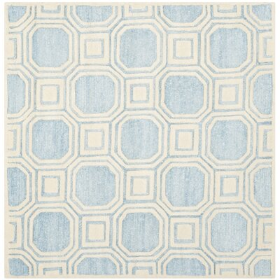 Precious Mist Blue/Beige Outdoor Area Rug Rug Size: Square 5