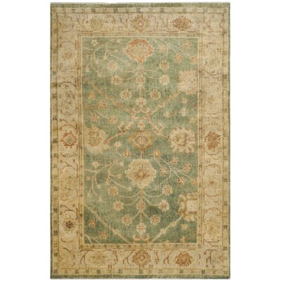 Oushak Medium Blue / Green Rug Rug Size: 12 x 15