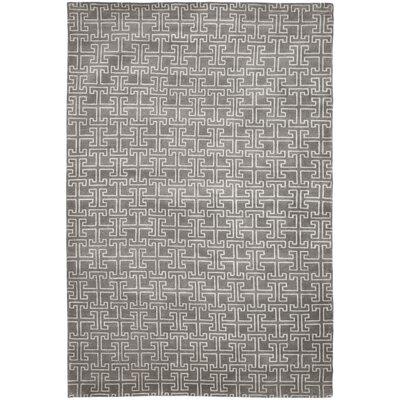 Tibetan Grey / Ivory Geometric Rug Rug Size: 6 x 9