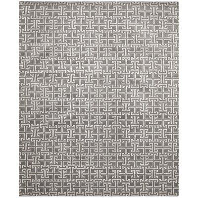 Tibetan Grey / Ivory Geometric Rug Rug Size: 8 x 10