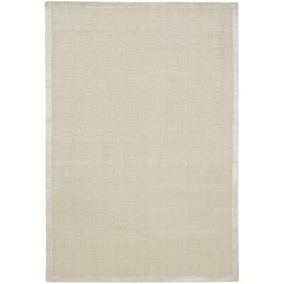Tibetan White Geometric Rug Rug Size: 8 x 10