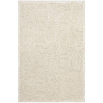Tibetan White Geometric Rug Rug Size: 2 x 3