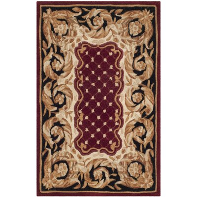 Naples Red Area Rug Rug Size: Rectangle 26 x 4