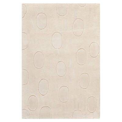 Soho White/Tan Area Rug Rug Size: Rectangle 36 x 56