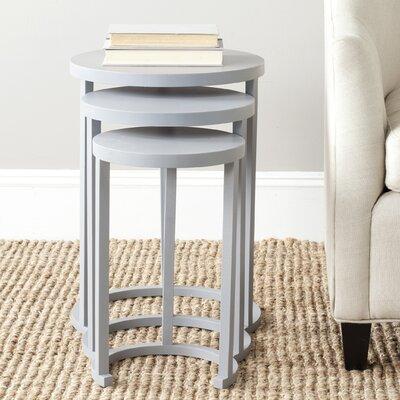 Sawyer 3 Piece Nesting Tables Finish: Medium Grey