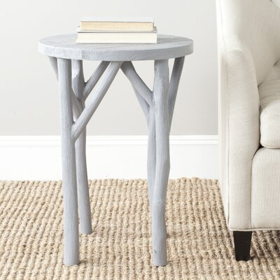 Calvin End Table Finish: Pearl Blue Grey