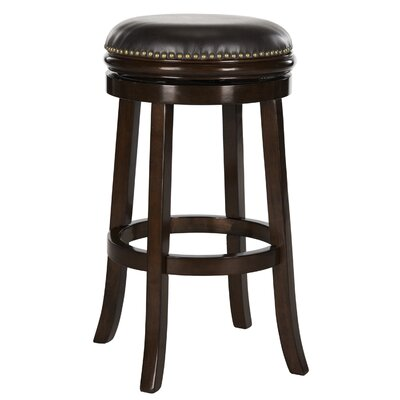 Biagio 30 Swivel Bar Stool Upholstery: Brown, Finish: Sierra Brown