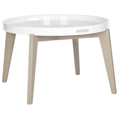 Echo End Table Color: White / Grey