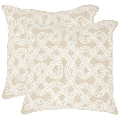 Lola Cotton Throw Pillow Size: 18 H x 18 W x 2.5 D