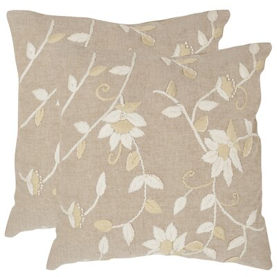 Vallie Cotton Throw Pillow Size: 22 H x 22 W x 2.5 D