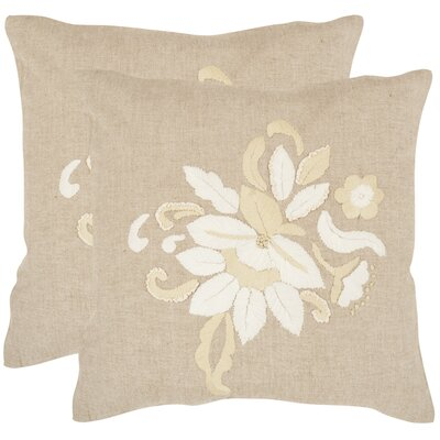 June Cotton Throw Pillow Size: 18 H x 18 W x 2.5 D