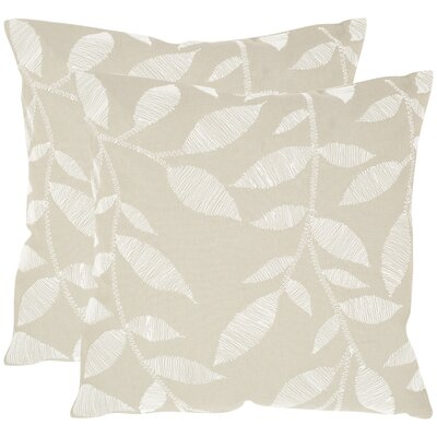 May Cotton Throw Pillow Size: 20 H x 20 W x 2.5 D