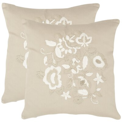April Cotton Throw Pillow Size: 22 H x 22 W x 2.5 D