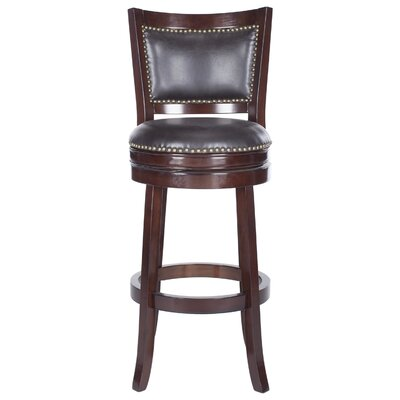 Lazzaro 29 Swivel Bar Stool Color: Sierra Brown, Upholstery: Brown