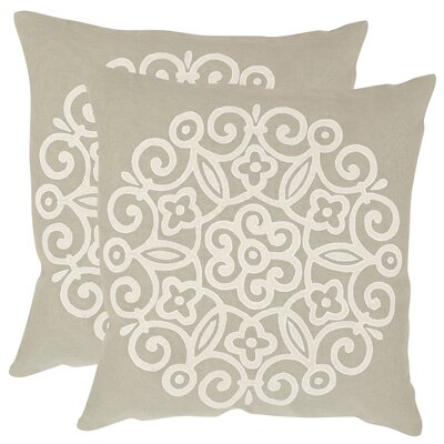 Joanna Cotton Throw Pillow Size: 18 H x 18 W x 2.5 D